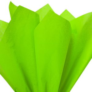 "Bright Lime Tissue Paper 20x30"" 480 Sheet Flat Ream"