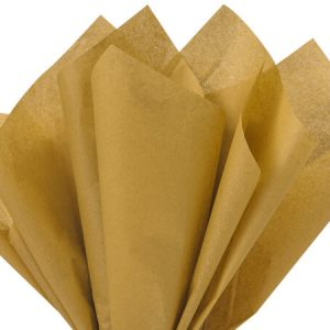 "Antique Gold Tissue Paper 20x30"" 24 Sheet Mini-pack (12 Packs)"