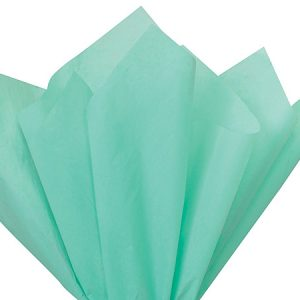 "Aqua Tissue Paper 20x30"" 24 Sheet Mini-pack (12 Packs)"