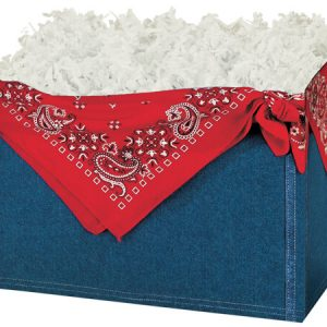 "All Occasion Basket Boxes - large_Denim Basket Boxes 10-1/4x6x7-1/2"" - (2 Packs; 6 Boxes Per Pack)"