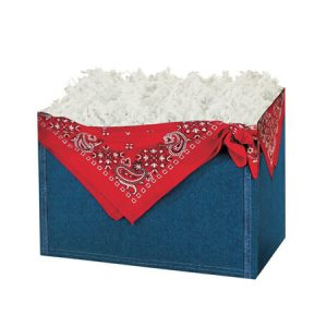 "All Occasion Basket Boxes - Small Denim Basket Boxes 6-3/4x4x5"" - (5 Packs; 6 Boxes Per Pack)"