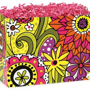 "All Occasion Basket Boxes - large_Doodle Garden Basket Boxes 10-1/4x6x7-1/2"" - (2 Packs; 6 Boxes Per Pack)"