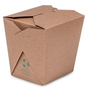 """Take Out Box Containers - 26 oz Earth Recycled Kraft Microwave Safe 4 - 1/8x3 - 5/8x4 - 1/4"""" (450 boxes)"""