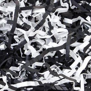 Black & White Eco Fill Paper Shreds 6 lb Box ~ 100% Recycled
