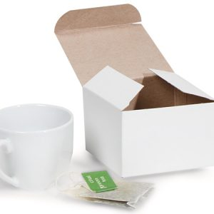 """Economy Matte White Gift Boxes - White Matte Gift Boxes 3x3x2"""" 100% Recycled ~ 1 Piece Economy (2 Packs; 100 Boxes Per Pack)"""