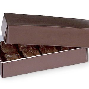 "2 Pc Candy Boxes - 1/4 lb Chocolate Candy Boxes 2 Pc. 5 - 1/4x2 - 15/16x1 - 1/8"" (100 boxes)"