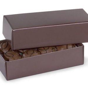 "2 Pc Candy Boxes - 1/2 lb Chocolate Candy Boxes 2 Pc. 6 - 1/2x3 - 3/4x1 - 3/4"" (100 boxes)"