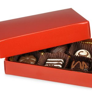 "2 Pc Candy Boxes - 1/4 lb Red Candy Boxes - 1 Layer 2 Pc. 5 - 1/4x2 - 15/16x1 - 1/8"" (100 boxes)"