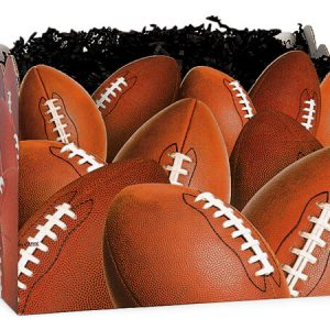 "All Occasion Basket Boxes - large_Football Basket Boxes 10-1/4x6x7-1/2"" - (2 Packs; 6 Boxes Per Pack)"