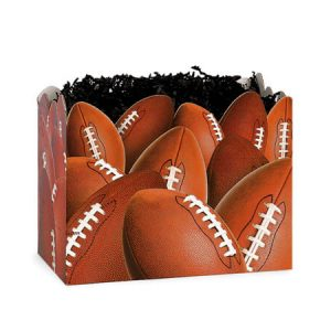 "All Occasion Basket Boxes - Small Football Basket Boxes 6-3/4x4x5"" - (5 Packs; 6 Boxes Per Pack)"