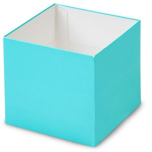 """Gift Gourmet Boxes - 4x4x3 - 1/2"""" Solid Matte Turquoise Gourmet Box Base - (2 Packs; 25 Per Pack)"""