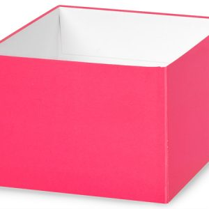 "Gift Gourmet Boxes - 6x6x4"" Solid Matte Hot Pink Gourmet Box Base - (2 Packs; 25 Per Pack)"