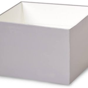 """Gift Gourmet Boxes - 6x6x4"""" Solid Matte Silver Gourmet Box Base - (2 Packs; 25 Per Pack)"""