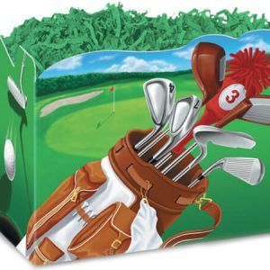 """All Occasion Basket Boxes - Small Golf Scene Basket Boxes 6-3/4x4x5"""" - (5 Packs; 6 Boxes Per Pack)"""