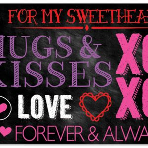 "Special Occasion Theme Cards - Hugs And Kisses Chalkboard Theme Gift Cards 3 -3/4 X 2 -3/4"" (30 Packs; 6 Cards Per Pack)"