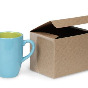 "100% Recycled Kraft Gift Boxes - Brown Kraft Boxes 6x4 - 1/2x4 - 1/2"" 100% Recycled Varnish Stripe - 1 Pc (100 boxes)"