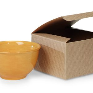 "100% Recycled Kraft Gift Boxes - Brown Kraft Gift Boxes 6x6x4"" 100% Recycled Varnish Stripe - 1 Pc (100 boxes)"