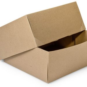 "100% Recycled Kraft Gift Boxes - Brown Kraft Gift Boxes 12x12x5 - 1/2"" 100% Recycled - 2 Pc (50 boxes)"