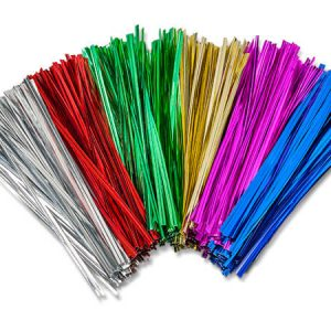 "6"" Twist Ties~assortment~5 Colors Gold, Silver, Pink, Emerald & Red (8 Packs of 1000)"