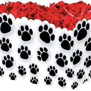 "All Occasion Basket Boxes - large_Paw Prints Basket Boxes 10-1/4x6x7-1/2"" - (2 Packs; 6 Boxes Per Pack)"