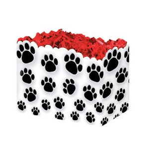 "All Occasion Basket Boxes - Small Paw Prints Basket Boxes 6-3/4x4x5"" - (5 Packs; 6 Boxes Per Pack)"