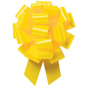"""Flora Satin Gift Pull Bows - Daffodil Flora Satin 4"""" Pull Bows Daffodil Flora Satin 4"""" Pull Bows (3 Packs; 50 Bows Per Pack)"""