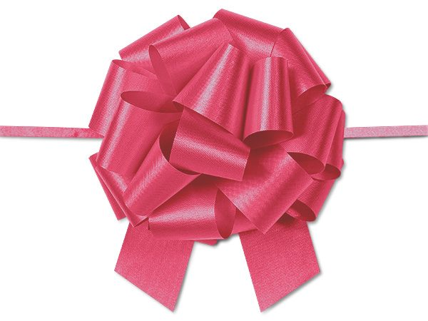 """Flora Satin Gift Pull Bows - Red Flora Satin 5.5"""" Pull Bows 5.5"""" - 20 Loops -100% Polypropylene (2 Packs; 50 Bows Per Pack)"""
