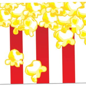 "All Occasion Theme Gift Cards - Popcorn Theme Gift Cards 3 -3/4x2 -3/4"" (30 Packs; 6 Cards Per Pack)"