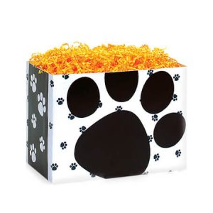 "All Occasion Basket Boxes - Small Pooch's Paws Basket Boxes 6-3/4x4x5"" - (5 Packs; 6 Boxes Per Pack)"