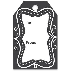 """Gift Tags - Chalkboard Borders Printed Gift Tags 2 -1/4""""x3 -1/2"""" (8 Packs; 50 Tags Per Pack)"""