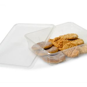 """Clear Food Containers - 64 oz Rectangle Plastic Food Containers 9x7x2 - 3/8"""" - (100 Per Pack)"""