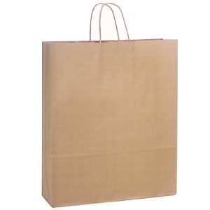 "100% Recycled Brown Paper Bags - Queen 100% Recycled Paper Bags Bulk 16x6x19"" (200 bags)"