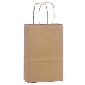 "100% Recycled Brown Paper Bags - Rose 100% Recycled Paper Bags Bulk 5 - 1/2x3 - 1/4x8 - 3/8"" (250 bags)"