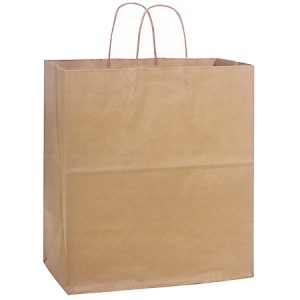"100% Recycled Brown Paper Bags - Regal 100% Recycled Paper Bags Bulk 14 - 1/2x9x16 - 1/4"" (200 bags)"