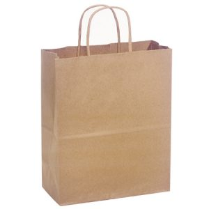 "100% Recycled Brown Paper Bags - Cub 100% Recycled Paper Bags Mini Pk 8x4 - 3/4x10 - 1/4"" (4 Packs; 25 Bags Per Pack)"