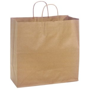 "100% Recycled Brown Paper Bags - Filly 100% Recycled Paper Bags Mini Pk 13x7x13"" (4 Packs; 25 Bags Per Pack)"