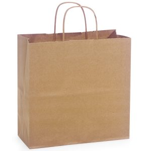 "100% Recycled Brown Paper Bags - Joey 100% Recycled Paper Bags Mini Pk 10x5x10"" (4 Packs; 25 Bags Per Pack)"