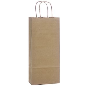 "100% Recycled Brown Paper Bags - Wine 100% Recycled Paper Bags Mini Pk 5 - 1/2x3 - 1/4x13"" (4 Packs; 25 Bags Per Pack)"