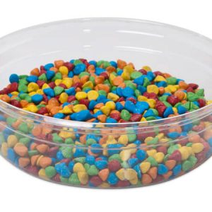 """Clear Food Containers - 8 oz Round Plastic Food Containers 4 - 1/2"""" Dia.x1 - 1/4"""" Deep - (250 Per Pack)"""