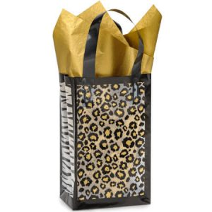 "Frosted Leopard Safari Bags - Rose Safari Frosted Plastic Bags Mini Pk 3 mil HD 5-1/4x3-1/4x8-1/2"" (5 Packs; 25 Bags Per Pack)"