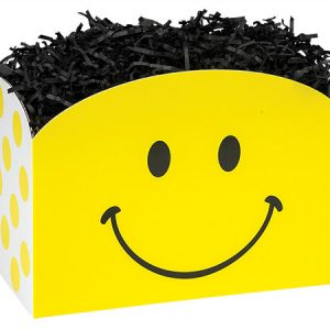 "All Occasion Basket Boxes - large_Smiley Basket Boxes 10-1/4x6x7-1/2""- (2 Packs; 6 Boxes Per Pack)"