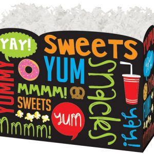 "All Occasion Basket Boxes - large_Snack Attack Basket Boxes 10-1/4 x 6 x 7-1/2"" - (2 Packs; 6 Boxes Per Pack)"