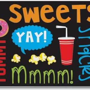 "All Occasion Theme Gift Cards - Snack Attack Theme Gift Cards 3 -3/4 x 2 -3/4"" (30 Packs; 6 Cards Per Pack)"