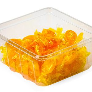 """Clear Food Containers - 30 oz Square Container 5 - 3/8x5 - 3/8x2 - 1/2"""" Deep - (300 Per Pack)"""