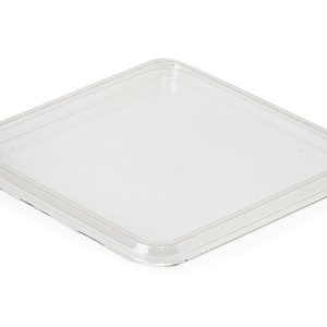 """Clear Food Containers - 30 oz Square Recessed Lid 5 - 1/2x5 - /12"""" - (300 Per Pack)"""