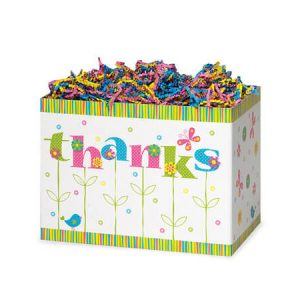 """Special Occasion Baskets Boxes - Small Thanks In Bloom Basket Boxes 6-3/4x4x5"""" - (5 Packs; 6 Boxes Per Pack)"""