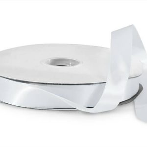 """White Value Double Faced Satin 7/8""""x100 yds 100% Polyester Ribbon (3 Spools)"""
