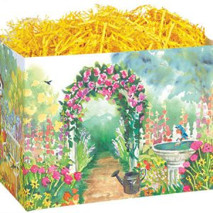 "All Occasion Basket Boxes - large_Watercolor Garden Basket Boxes 10-1/4x6x7-1/2"" - (2 Packs; 6 Boxes Per Pack)"