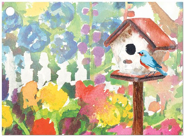 """All Occasion Theme Gift Cards - Watercolor Garden Theme Gift Cards 3 -3/4x2 -3/4"""" (30 Packs; 6 Cards Per Pack)"""
