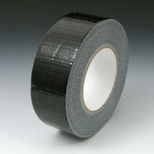 "2"" x 180' Colored Duct Tape - Black (9 mil) - 24 Rolls per Carton"